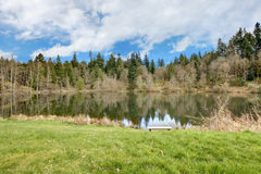 Small lake Rasmussen, Duval. WA state. USA Royalty Free Stock Photography