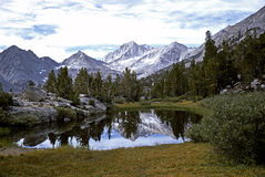 Small lake in Sierra Nevada mountains Stock Photos