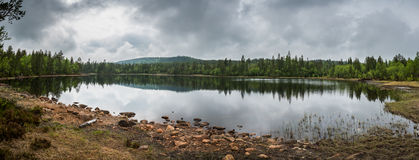 Small lake in Siljan. Picture from Siljan in Norway Royalty Free Stock Photo