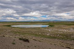 lake steppe mountains sky Royalty Free Stock Photography