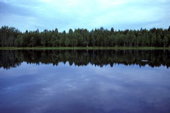 Small lake in Sweden Stock Photo