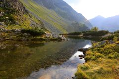 Small lake in tatras Stock Images