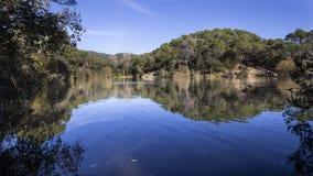 Small Lake in Terrassa, Barcelona. Catalonia, Spain royalty free stock photo