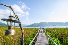 Small Lake in  thailand. Small Lake in kanchanaburi thailand Royalty Free Stock Image