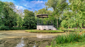 Small lake in Vondelpark, Amsterdam. Royalty Free Stock Photos