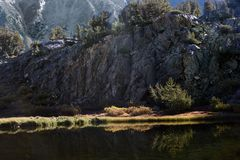Bull Lake in the John Muir Wilderness, Sierra Nevada Range, California. This small lake is on the way to larger, grander bodies of water along the route to Stock Photos