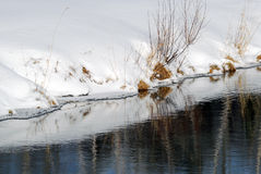 Small lake in winter Royalty Free Stock Images
