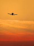Small landing plane Royalty Free Stock Photos