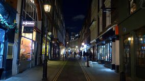 Small lane at london`s west end - LONDON, ENGLAND - DECEMBER 11, 2019