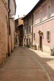 Small Lane in Urbino historical centre Stock Photos