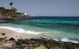 Small Lanzarote's beach bay Stock Photography