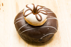 Small and large delicious donuts Stock Images