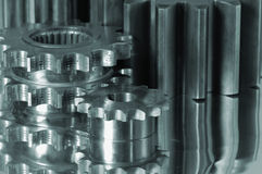 Small and large gears Royalty Free Stock Images