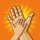 Small and large hand Stock Image