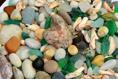 Small and large pebbles royalty free stock photos