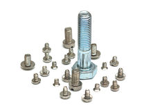 Small and Large Screws Stock Image