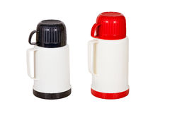 Small and large thermos Royalty Free Stock Photo