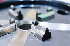 Small lathe chuck for lightweight components. Stock Image