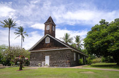 Small lava church celebrates Easter, Makena, Maui, Hawaii Royalty Free Stock Image