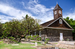 Small lava church celebrates Easter, Makena, Maui, Hawaii Stock Photography