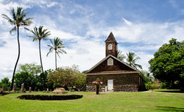 Small lava church celebrates Easter, Makena, Maui, Hawaii Stock Image