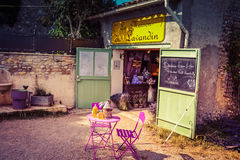 Small lavender product shop in Provence Royalty Free Stock Images