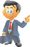 Small Lawyer. Businessman with briefcase Royalty Free Stock Photo
