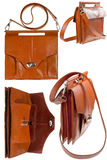 Small leather bag Royalty Free Stock Photos