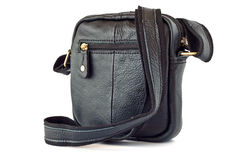 Small leather bag Stock Image