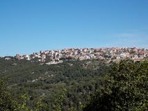 A small Lebanese village on the top of a mountain stock image