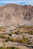 Small Leh village in northen India Royalty Free Stock Photo