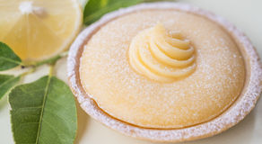 Small Lemon Tart. Stock Images