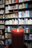 Small library with candle Royalty Free Stock Images