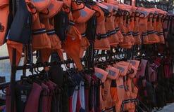 Small Life Jackets. At Gunwharf Quays Portsmouth Stock Image
