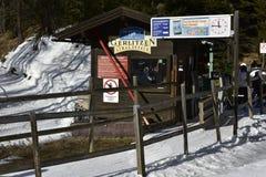Small Lift Station in the  Gerlitzen Ski Resort, Austria Stock Photo