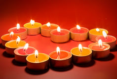 Small light candles Stock Photography