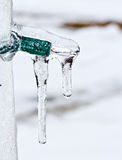 Small Light covered by ice Stock Photography
