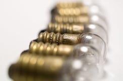 Small lightbulbs Stock Images