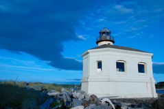 Small lighthouse. A view of a small lighthouse along the coast of Oregon Royalty Free Stock Photography