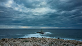 Small lighthouse in Adriatic Sea Croatia stock video