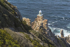 Small lighthouse on Cape Point in South Africa Royalty Free Stock Image