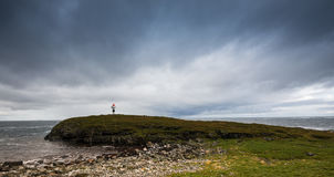 Small Lighthouse on the Coast of Andoya, Vesteralen Stock Photography