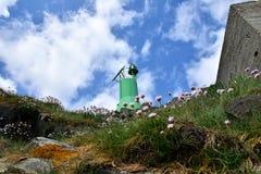 Small lighthouse on the coast royalty free stock photos