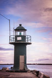 Small lighthouse in Genoa stock photography