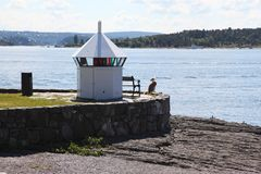 Small lighthouse in Oslo royalty free stock images