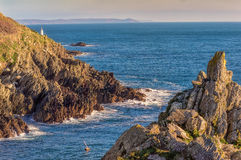 Small lighthouse in Polperro Stock Photos