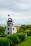 Small lighthouse in prince edward island Stock Images