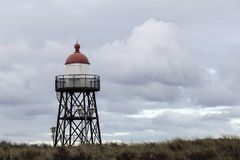 Small lighthouse in Scheveningen Royalty Free Stock Photography