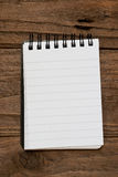 Small lined notepad Stock Photo