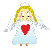 Small little angel, vector Stock Photography